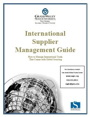 Guidebook supplier management